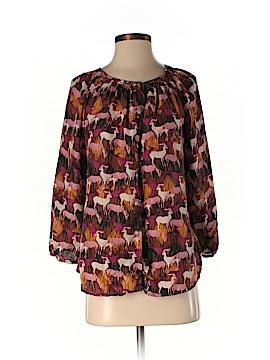 Sundance 3/4 Sleeve Silk Top Size S