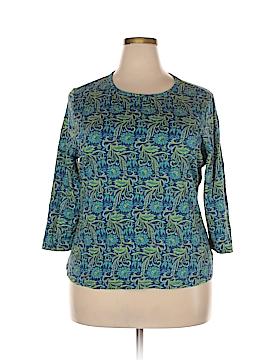 Kim Rogers 3/4 Sleeve T-Shirt Size 2X (Plus)