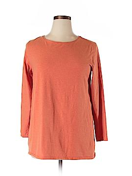 Purejill 3/4 Sleeve T-Shirt Size 1X (Plus)