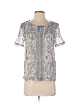 Massimo Dutti Short Sleeve Silk Top Size 2