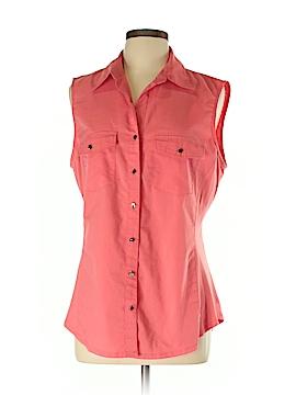 Sharagano Sleeveless Button-Down Shirt Size XL