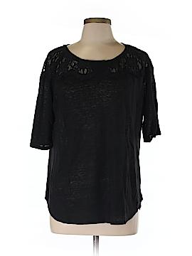 Bordeaux Short Sleeve Blouse Size L