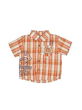 Little Rebel Short Sleeve Button-Down Shirt Size 18 mo