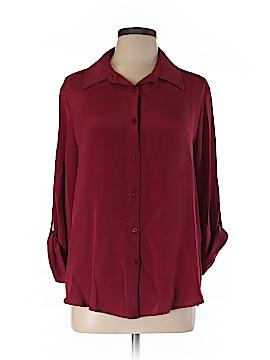 Louben Long Sleeve Silk Top Size 12