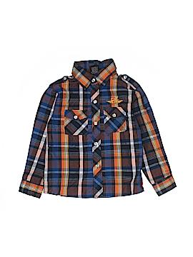 American Hero Long Sleeve Button-Down Shirt Size 7