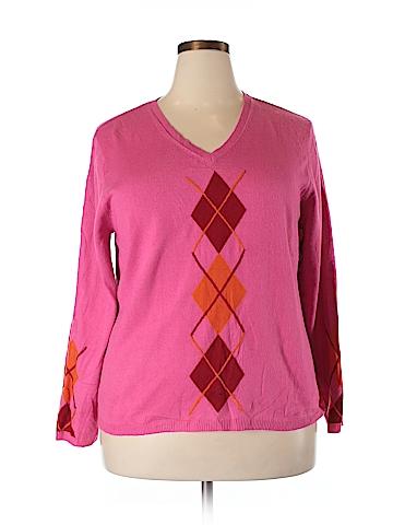 Evan Picone Pullover Sweater Size 2X (Plus)