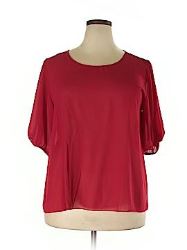Jon & Anna Short Sleeve Blouse Size 2X (Plus)