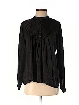 All Saints Long Sleeve Silk Top Size 0