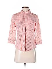 J. Crew Women 3/4 Sleeve Button-Down Shirt Size S