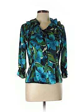 AK Anne Klein 3/4 Sleeve Blouse Size 10 (Petite)