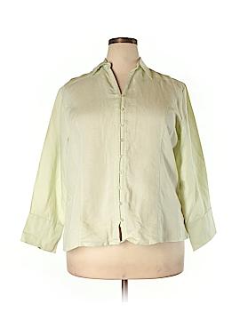 Classic Blues Long Sleeve Button-Down Shirt Size 2X (Plus)