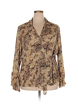 Venezia Long Sleeve Silk Top Size 22 Plus/24 (Plus)