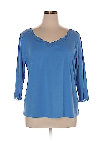 Karen Scott Sport 3/4 Sleeve Top Size XL