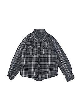 Indigo Star Long Sleeve Button-Down Shirt Size 7
