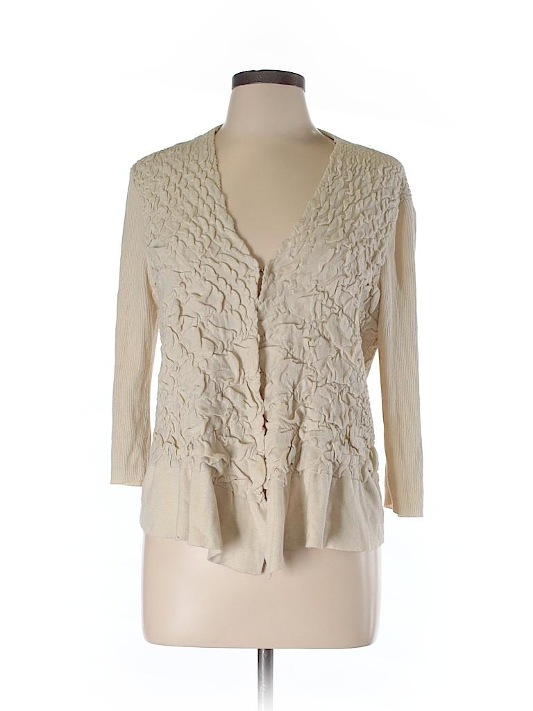 9999df05cf95 Cato Solid Tan Cardigan Size L - 67% off