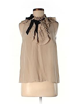 Floreat Sleeveless Silk Top Size 4