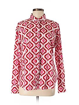 Three Islands Long Sleeve Button-Down Shirt Size M