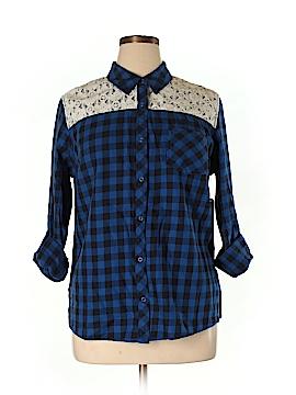 Arizona Jean Company Long Sleeve Button-Down Shirt Size XL