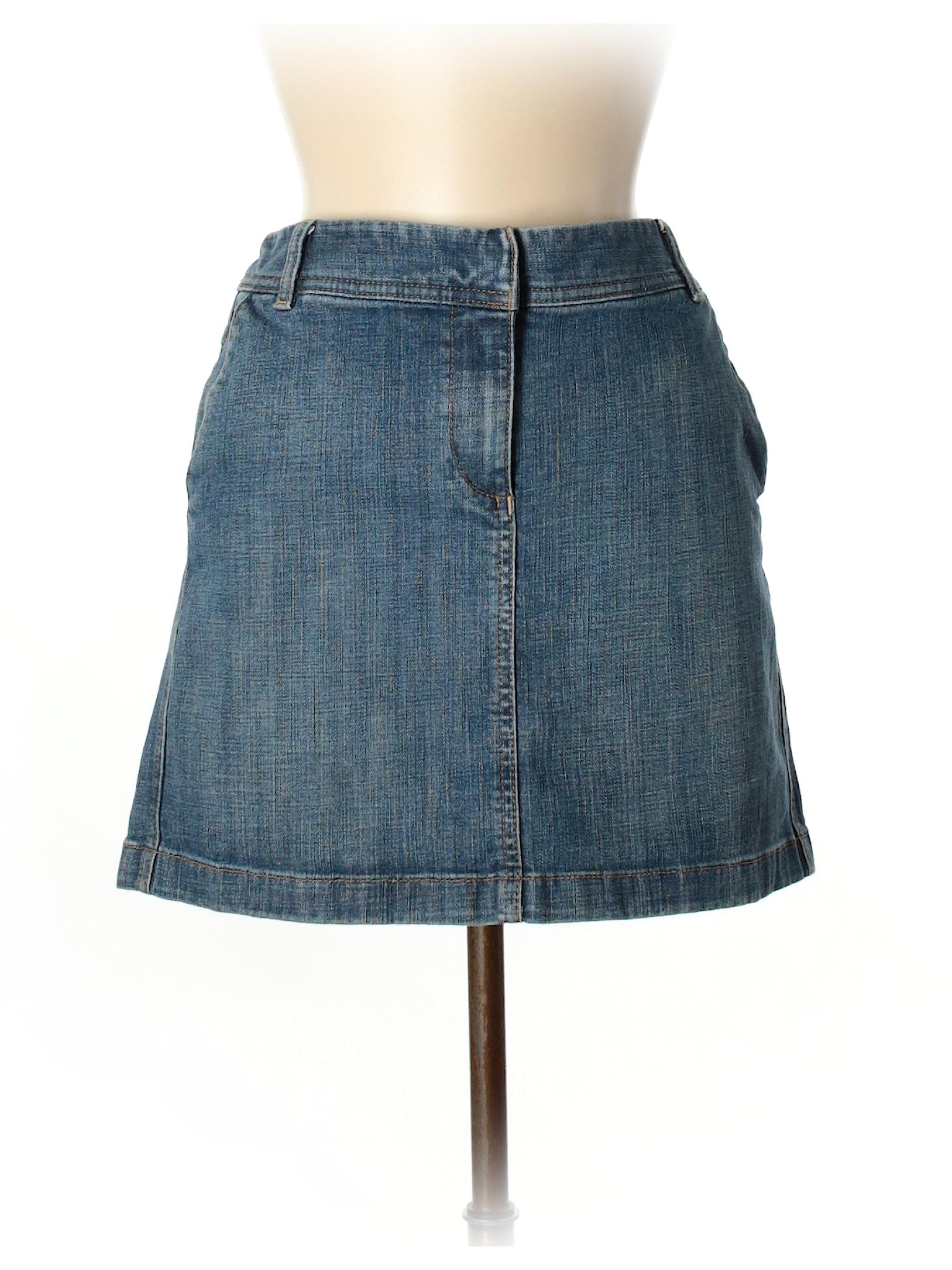 b70985f078 Ann Taylor LOFT Solid Blue Denim Skirt Size 6 - 81% off | thredUP