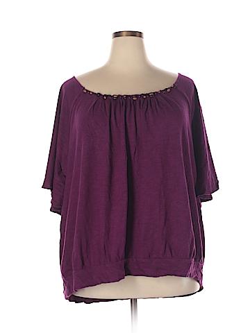 Fashion Bug Short Sleeve Blouse Size 3X (Plus)