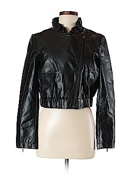 Elle Faux Leather Jacket Size M