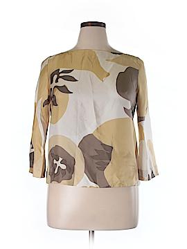 J. Crew Long Sleeve Silk Top Size 14
