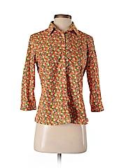 Lands' End Women 3/4 Sleeve Button-Down Shirt Size 4 (Petite)