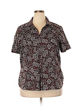 Bay Studio Short Sleeve Button-Down Shirt Size 2X (Plus)