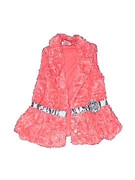 Little Lass Faux Fur Vest Size 5