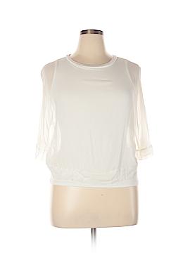 Lola & Sophie 3/4 Sleeve Silk Top Size XL