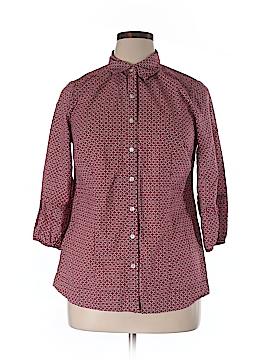 Avenue 3/4 Sleeve Button-Down Shirt Size 14/16 Plus (Plus)