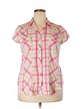 Roper Short Sleeve Button-Down Shirt Size 1X (Plus)