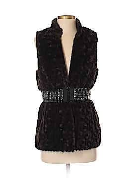 Romeo & Juliet Couture Faux Fur Vest Size S