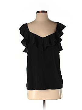 Tibi Short Sleeve Silk Top Size 2