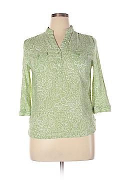 Susan Bristol 3/4 Sleeve Button-Down Shirt Size XL