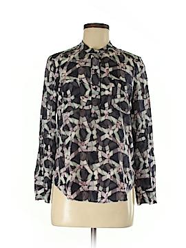 Rebecca Taylor Long Sleeve Silk Top Size 2