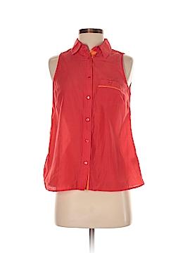 Jcpenney Sleeveless Button-Down Shirt Size S