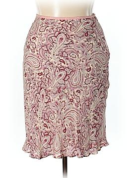 Petite Sophisticate Silk Skirt Size 10