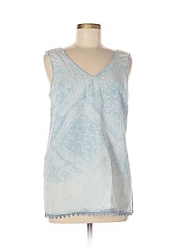 Vintage America Blues Sleeveless Blouse Size M