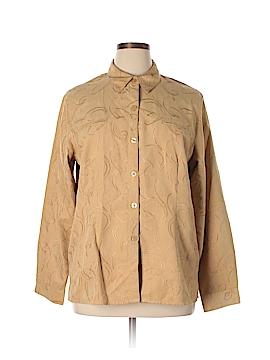 Sag Harbor Long Sleeve Button-Down Shirt Size 18 (Plus)