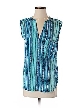 Aqua Short Sleeve Blouse Size S