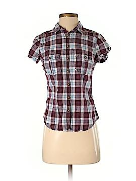 H&M L.O.G.G. Short Sleeve Button-Down Shirt Size 4