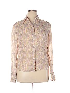 Audrey Talbott Long Sleeve Silk Top Size XL