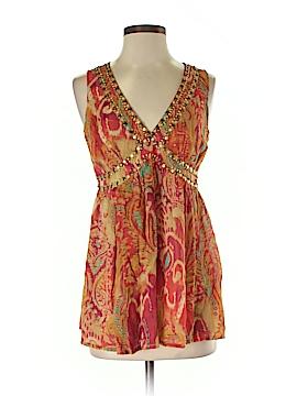 Telluride Clothing Co Sleeveless Silk Top Size 2