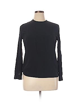 Giorgio Armani Long Sleeve Silk Top Size 14