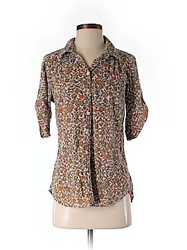 Eddie Bauer 3/4 Sleeve Button-Down Shirt Size M (Petite)