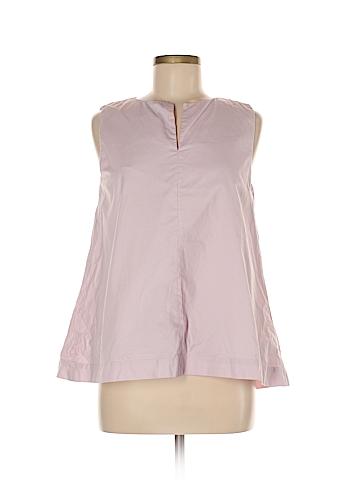 Jil Sander Navy Sleeveless Blouse Size 38 (EU)