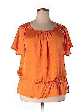 Joanna Short Sleeve Blouse Size XL