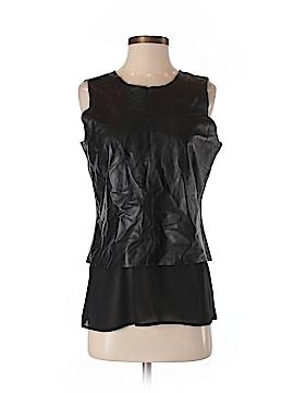 Ecru Leather Top Size S