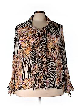 Violet & Claire Long Sleeve Blouse Size 3X (Plus)